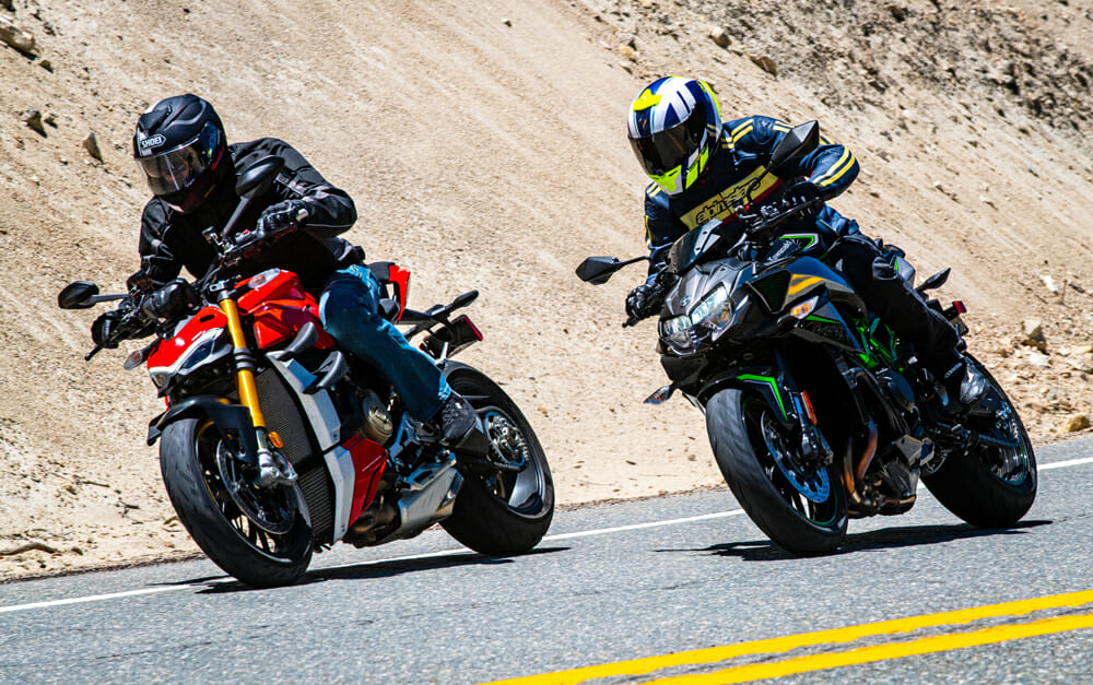 2020 Ducati Streetfighter V4 S costs $24K and the2020 Kawasaki Z H2 costs $17K.
