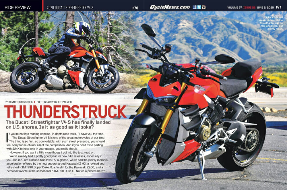 Cycle News 2020 Ducati Streetfighter V4 S Review