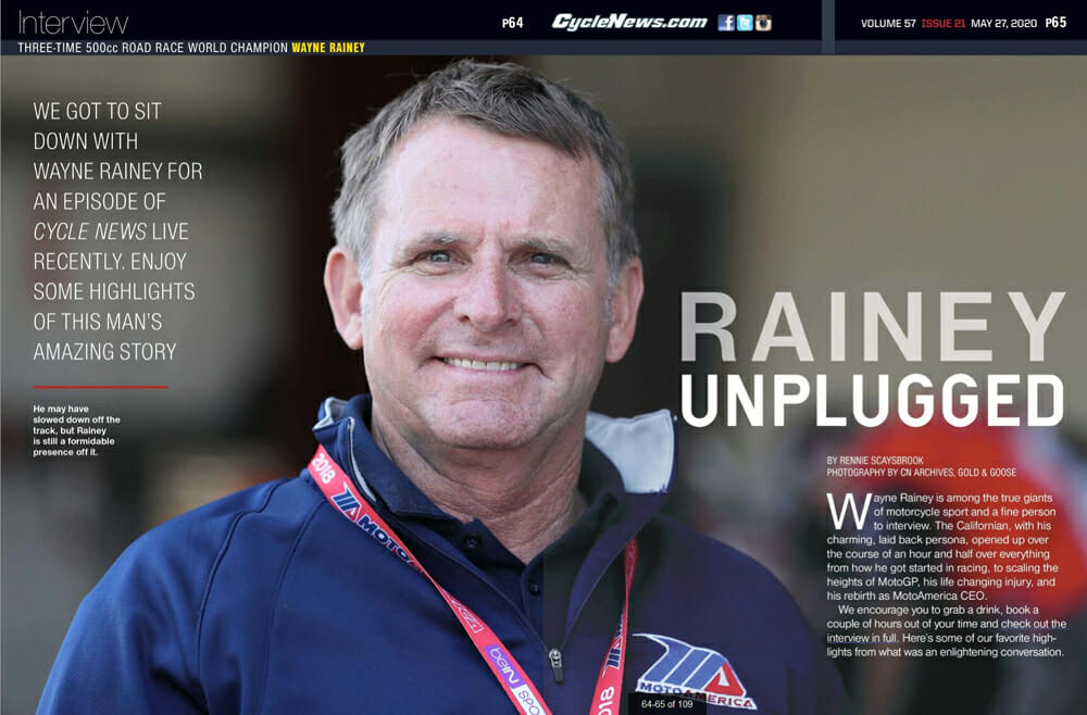 Interview with Wayne Rainey on Cycle News LIVE
