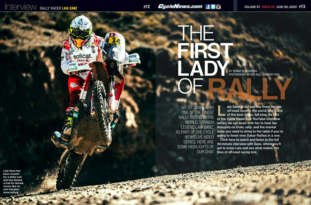 Cycle News Interviews Rally Racer Laia Sanz