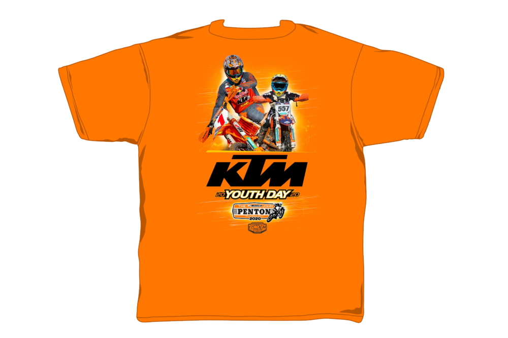 GNCC commemorative youth T-shirt to feature Kailub Russell and his son.