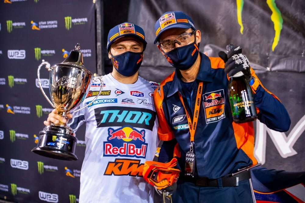 Red Bull KTM Factory Racing's Cooper Webb Back on Top at Salt Lake City SX