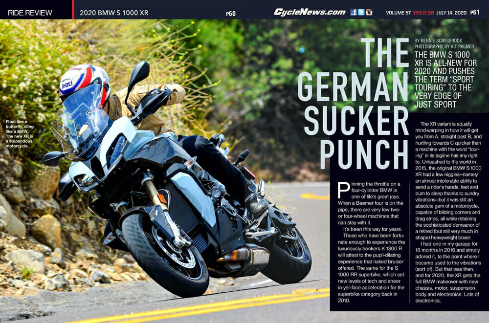 Cycle News 2020 BMW S 1000 XR Review