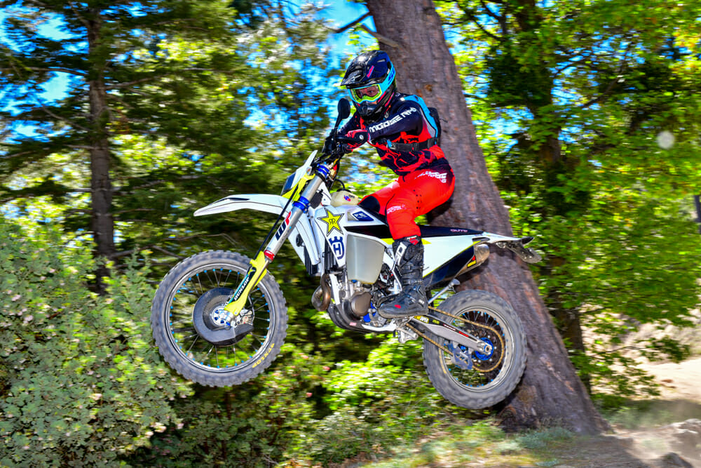 Jumping the 2020 Husqvarna FE 501S Project bike.