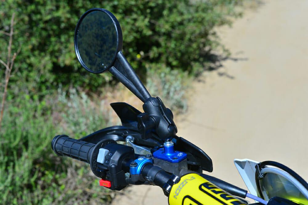Doubletake mirrors on the 2020 Husqvarna FE 501S Project bike.