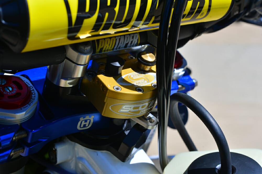 Scott's stabilizer on the 2020 Husqvarna FE 501S Project bike.
