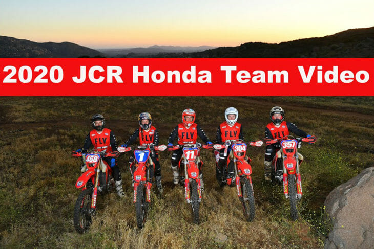 JCR Honda 2020 Team Video