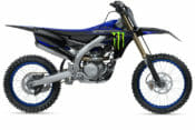 The 2021 Yamaha YZ250F in the new Monster Energy Yamaha Racing Edition graphics.