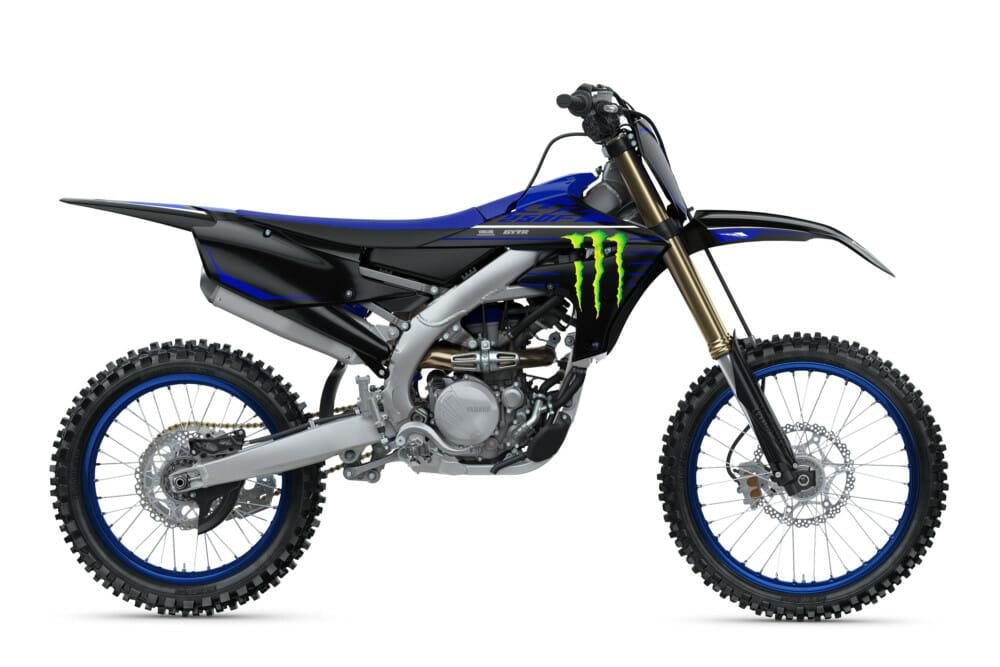 The 2021 Yamaha YZ250F in the new Monster Energy Yamaha Racing Edition graphics