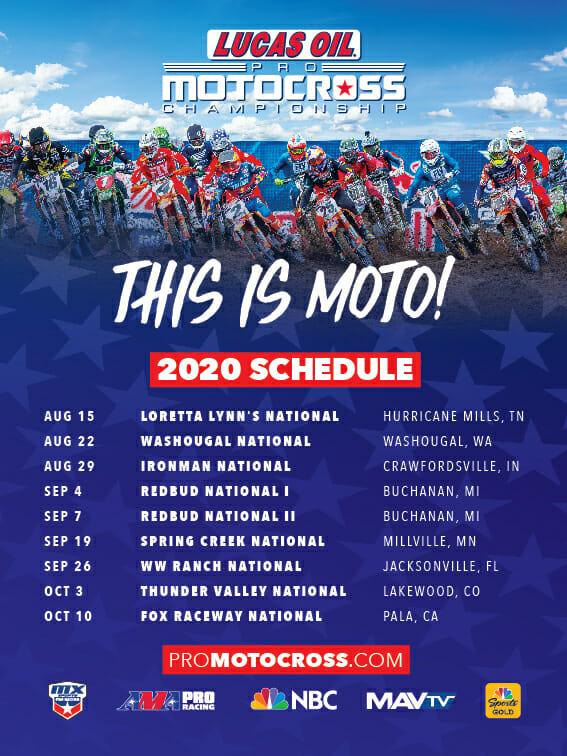2020 Pro MX schedule