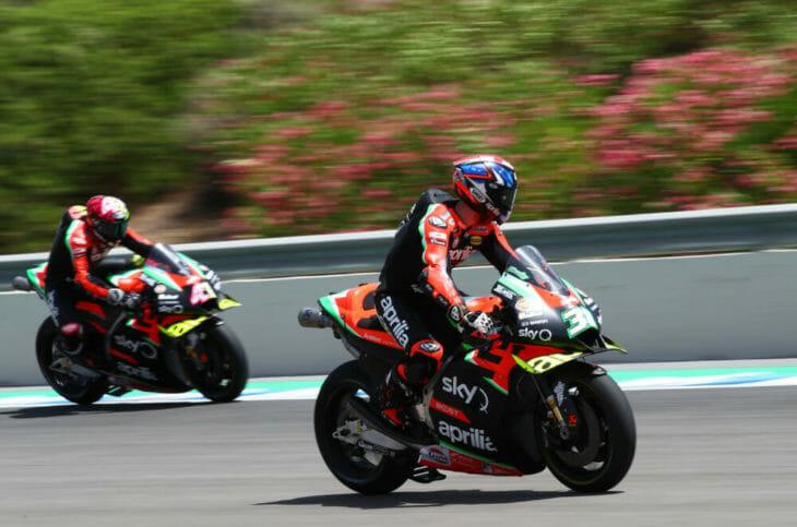 2020 Andalucia MotoGP Results Aprilia