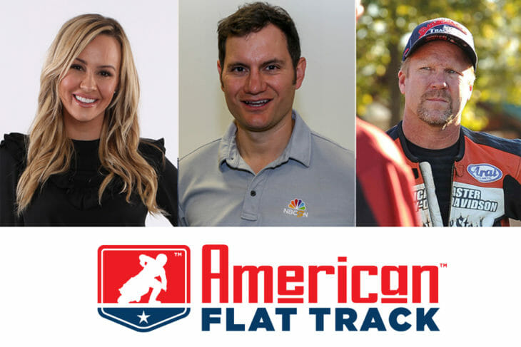 American Flat Track NBCSN on-air talent team