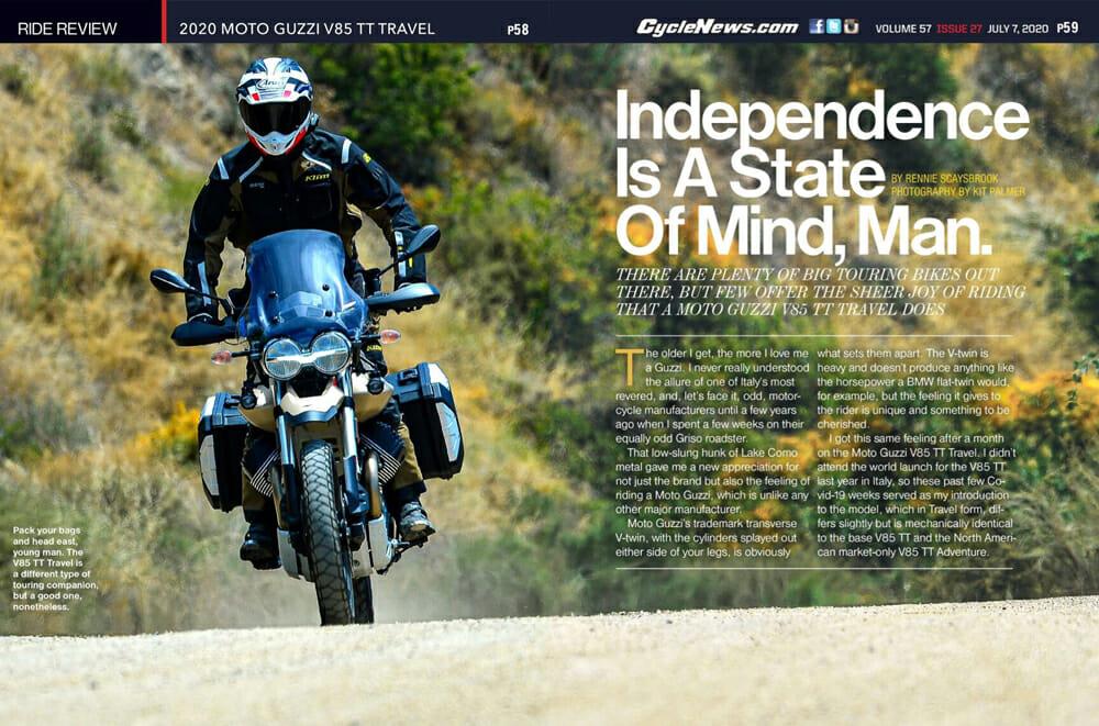 2020 Moto Guzzi V85 TT Travel Review