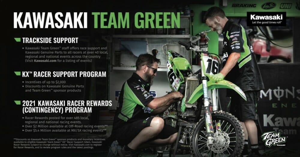 Kawasaki Team Green Releases 2021 Racer Rewards Program