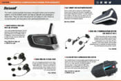 Motorcycle Communications systems from BikeBandit magazine screen shot