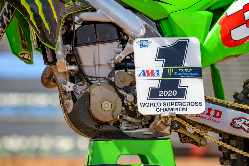 SX Champion Eli Tomac number-one plate.