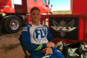 Weston Peick 2019 Fly Summer Camp sitting in chair