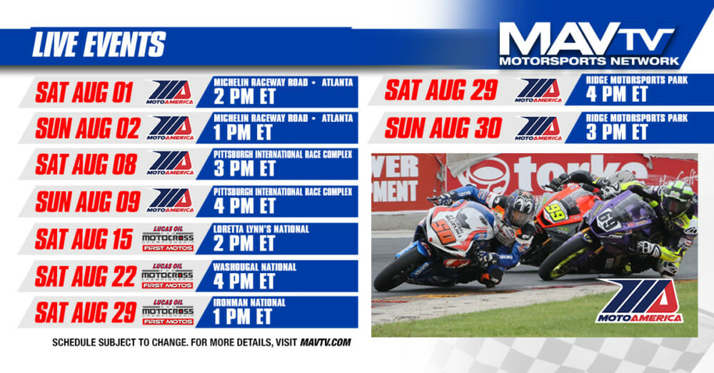 MavTV August LIVE Broadcast Schedule