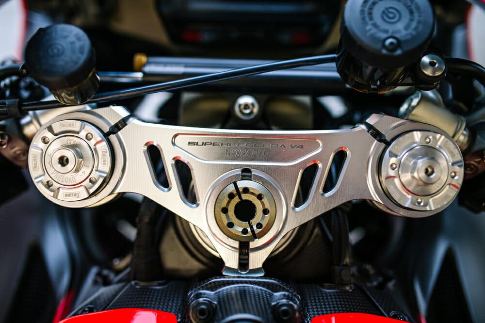 A preproduction 2020 Ducati Superleggera V4.