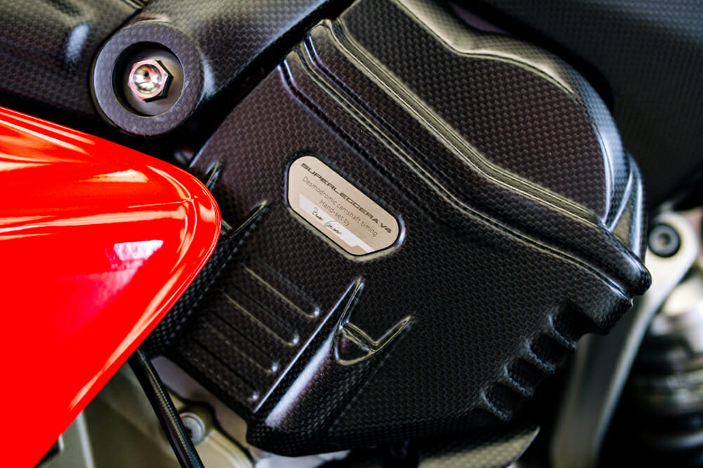 2020 Ducati Superleggera V4 signed by the technician that did the valve timing.