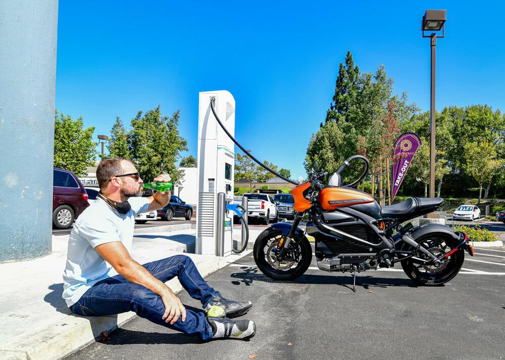 2020 Harley-Davidson LiveWire charging
