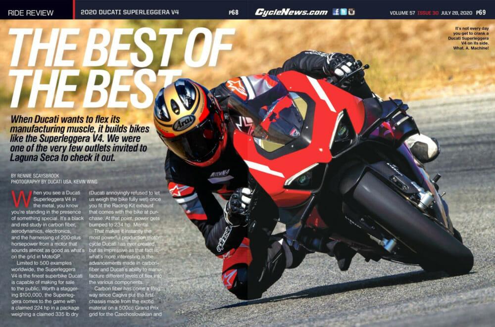 Cycle News 2020 Ducati Superleggera V4 Review