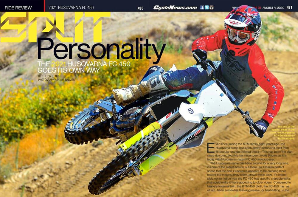 Cycle News 2021 Husqvarna FC 450 Review