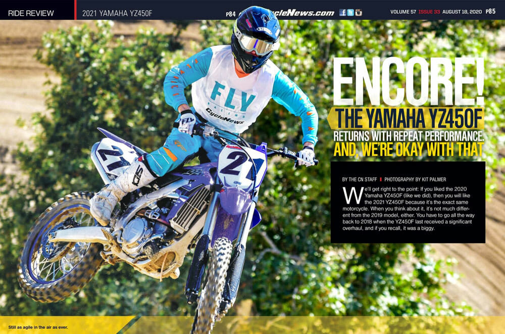 Cycle News 2021 Yamaha YZ450F Review