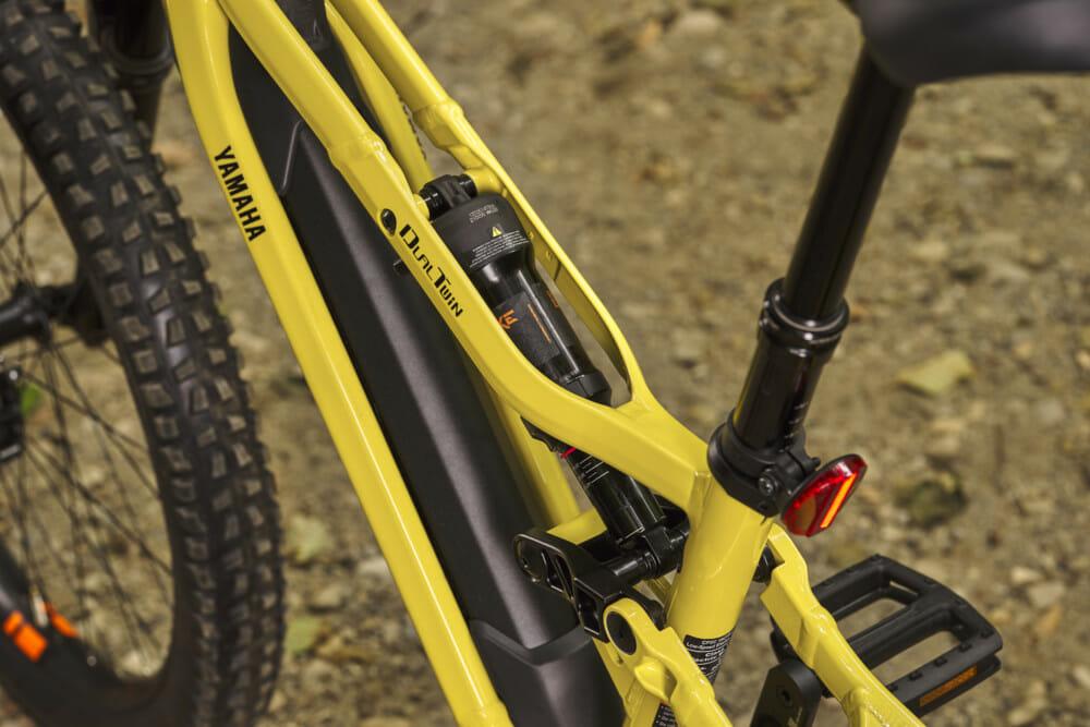 Dual twin frame on the Yamaha Bicycles YDX-Moro