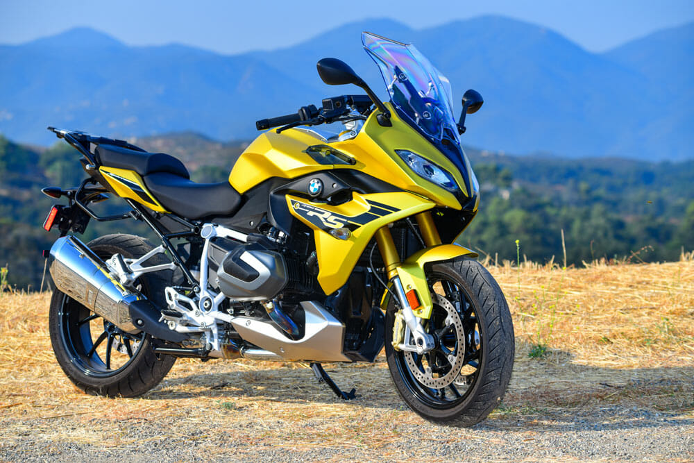2020 BMW R 1250 RS in Metallic Yellow