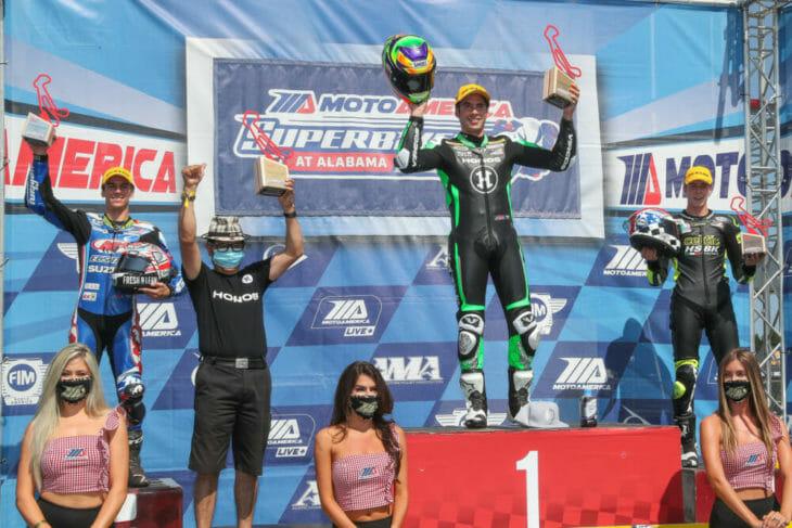 2020 Barber Motorsports Park MotoAmerica Results Sunday Supersport Richie Escalante podium