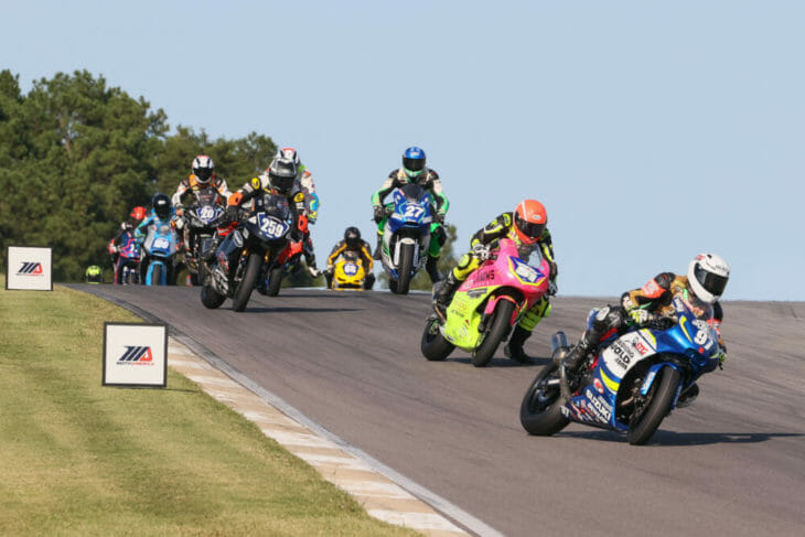 2020 Barber Motorsports Park MotoAmerica Results Sunday Twins Cup Rocco Landers Action