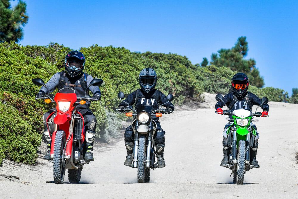 2020 Kawasaki KLX250 vs. Honda CRF250L vs. Yamaha XT250 Comparison