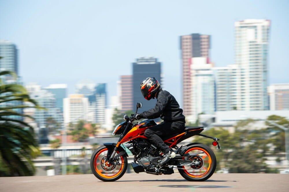 Riding the 2020 KTM 200 Duke in San Diego