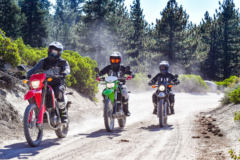 2020 Kawasaki KLX250 vs. Honda CRF250L vs. Yamaha XT250 Comparison