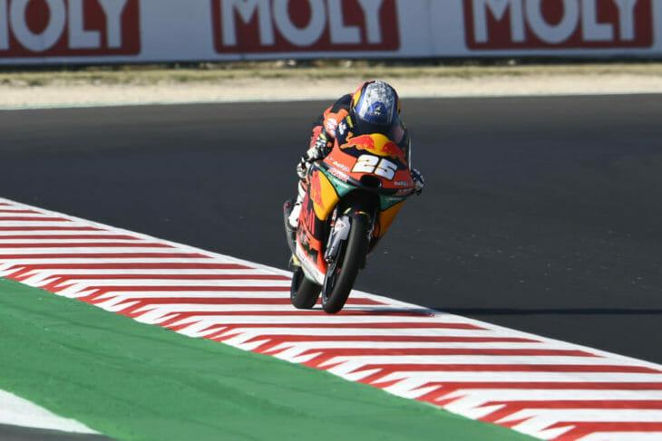 2020 San Marino MotoGP Fernandez tops Moto3 Friday