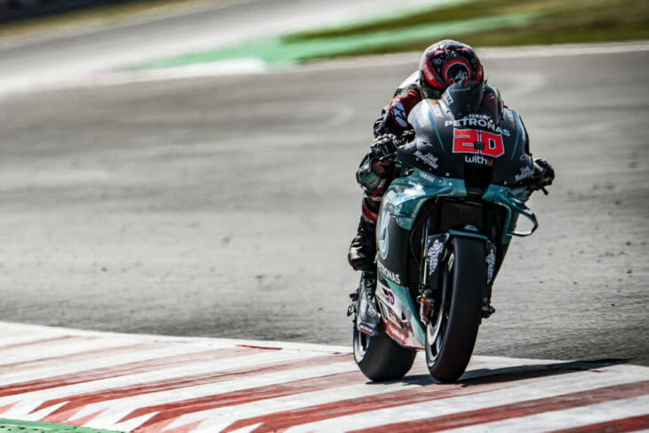 2020 San Marino MotoGP Friday Quartararo leads