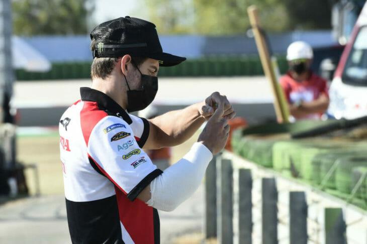 2020 San Marino MotoGP Results Crutchlow arm