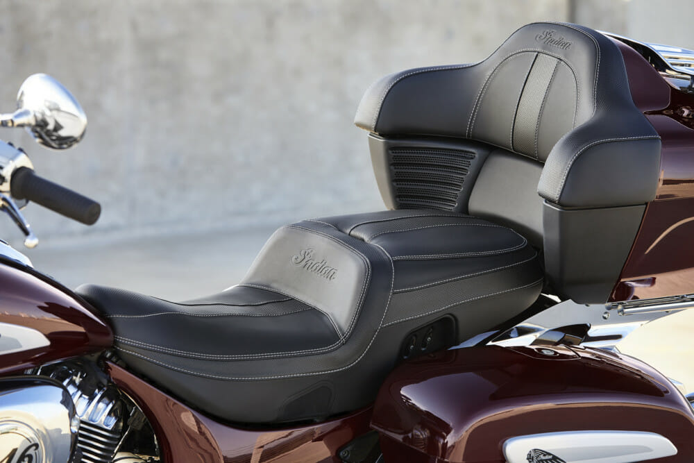 2021 Indian Roadmaster Limited seat