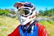 Rider wearing the Atlas Air Neck Brace