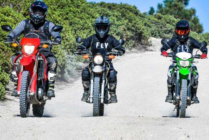 2020 Honda CRF250L, Yamaha XT250 and Kawasaki KLX250 Dual Sport Motorcycles