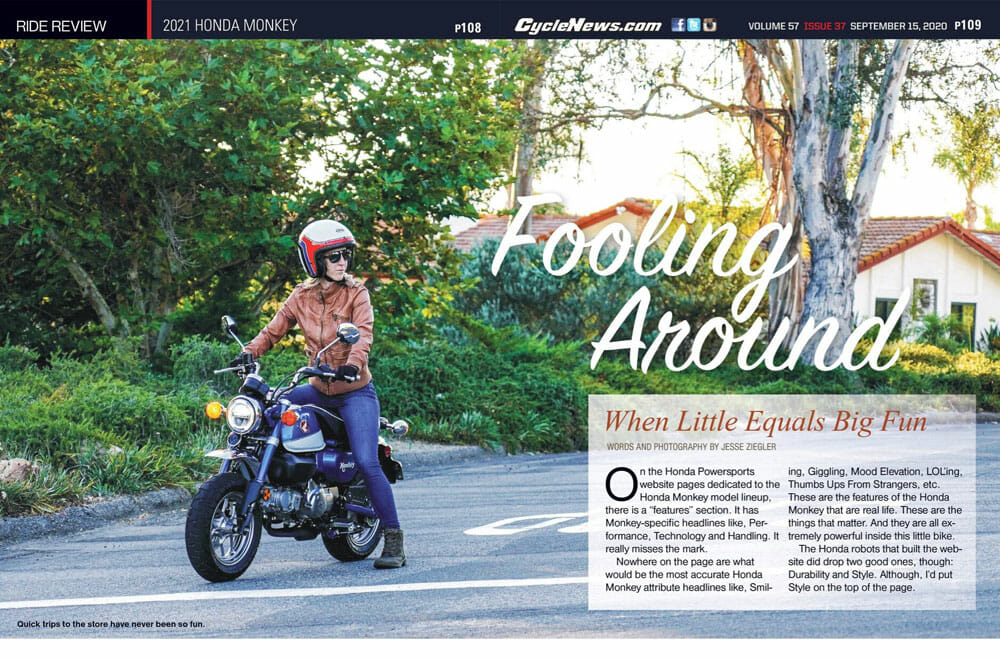 Cycle News 2021 Honda Monkey review
