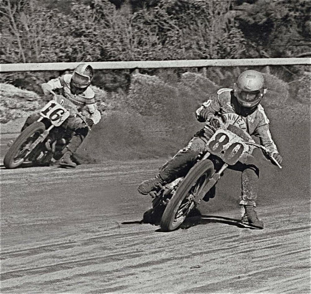 Tom White on the number 80 at Golden Gate Fields in 1974.