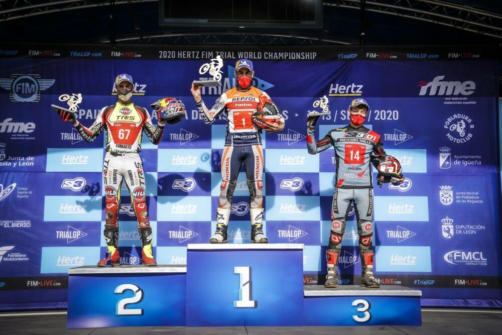 2020 TrialGP Spain podium
