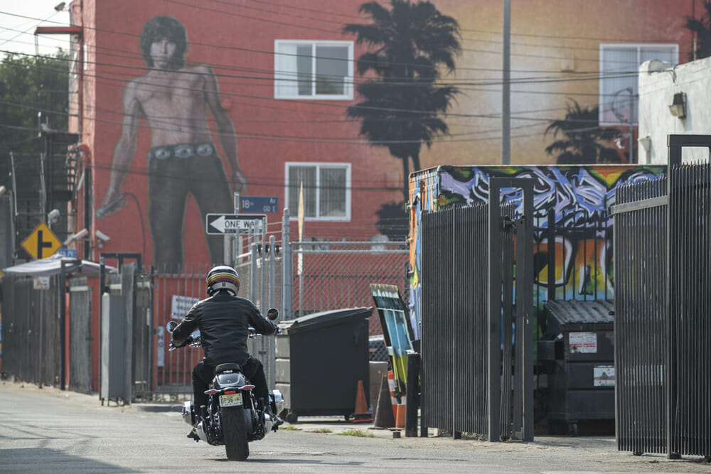 2021 BMW R 18 with Jim Morrison mural in background