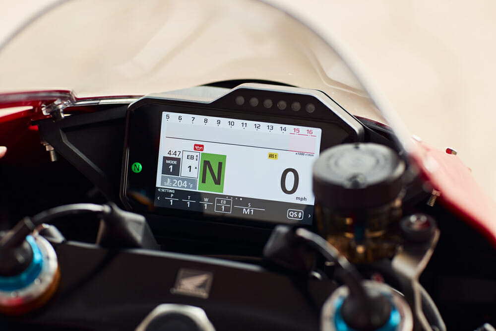 2021 Honda CBR1000RR-R Fireblade SP dash