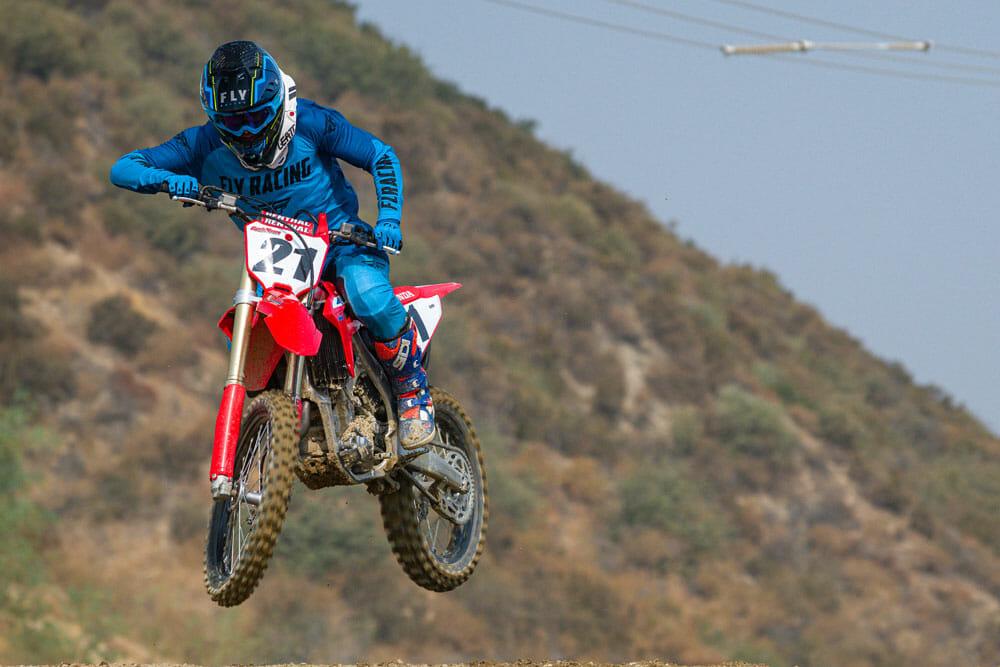 2021 Honda CRF450R jump