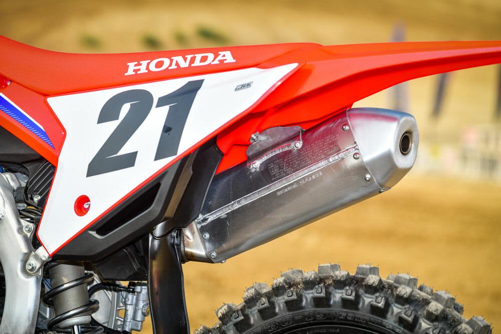 2021 Honda CRF450R muffler