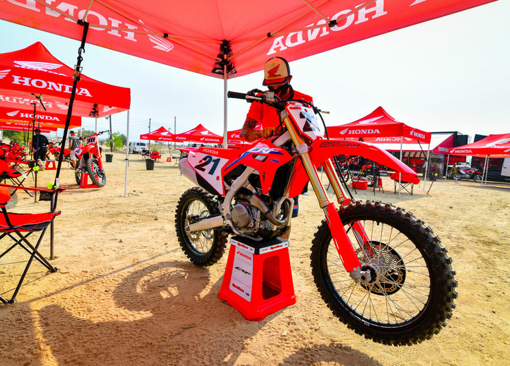 2021 Honda CRF450R in the pits