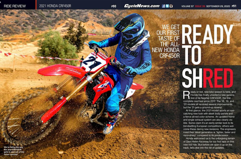 Cycle News 2021 Honda CRF450R Review